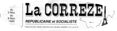 "Un document important : un article de ""La Corrèze républicaine et socialiste"""
