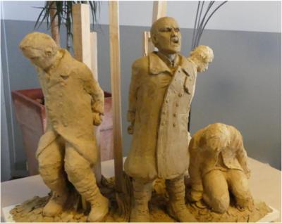 CHAUNY, 6 avril : hommage aux fusillés, inauguration du monument.